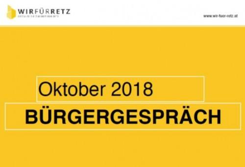 nächstes Bürgergespräch im Oktober 2018 geplant