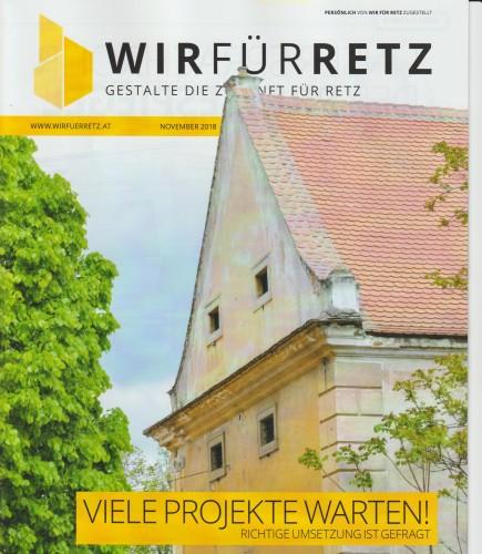 WIR FÜR RETZ Zeitung vom November 2018