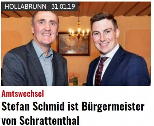Stefan Schmid ist Bürgermeister in Schrattenthal