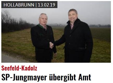 BGM JungMayer übergibt sein Amt an Peter Frühberger.