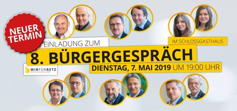 Einladung Bürgergespräche Mai 2019