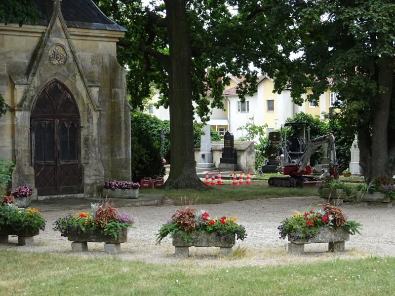 Der Standort für die Urnengräber am Retzer Friedhof ist fixiert